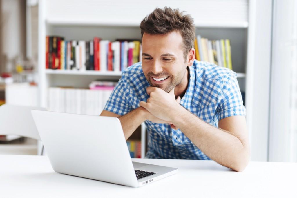 Man on website